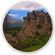 The Chapel On The Rock Round Beach Towel
