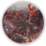 The Charge Of Drury Lowes Cavalry Round Beach Towel