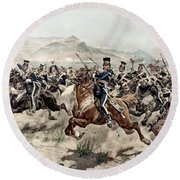 The Charge Of The Light Brigade, 1895 Round Beach Towel