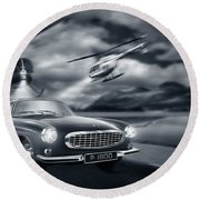The Chase 2 Round Beach Towel