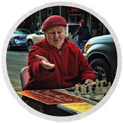 The Chess King Jude Acers Of The French Quarter Round Beach Towel