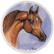 The Chestnut Arabian Horse 1 Round Beach Towel