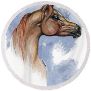 The Chestnut Arabian Horse 4 Round Beach Towel