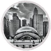 The Chicago Bean II Round Beach Towel
