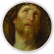 The Chosen One -  The Son Of God Who Died On The Cross For Your Sins Round Beach Towel