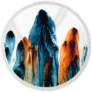The Chosen Ones - Emotive Abstract Painting Round Beach Towel