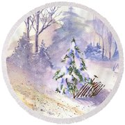 The Christmas Tree Round Beach Towel