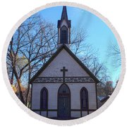 The Church At Billie Creek Round Beach Towel