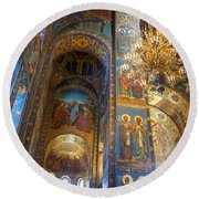The Church Of Our Savior On Spilled Blood - St. Petersburg - Russia Round Beach Towel