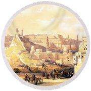 The Citadel Of Cairo Residence Of Mehemit Ali Round Beach Towel