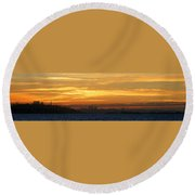 The City From Across The Bay Round Beach Towel