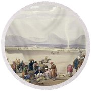 The City Of Candahar, From Sketches Round Beach Towel