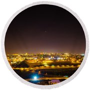The City Of Jerusalem Round Beach Towel