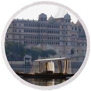 The City Palace, India Round Beach Towel