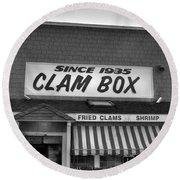 The Clam Box Round Beach Towel