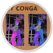 The Clarinet Conga Round Beach Towel