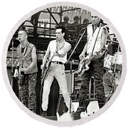 The Clash 1982 Round Beach Towel by Chuck Spang