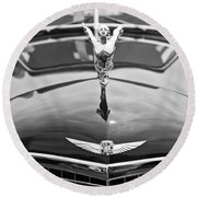 The Classic Cadillac Car At The Concours D Elegance. Round Beach Towel