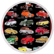 Ford Poster Art Round Beach Towel
