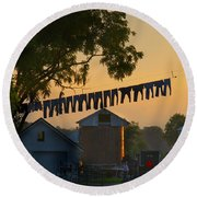 The Clothes Line Round Beach Towel