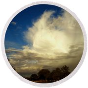 The Cloud - Horizontal Round Beach Towel