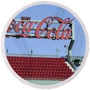 The Coca-cola Corner Round Beach Towel