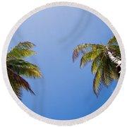 The Coconut Ladder Round Beach Towel
