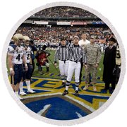 The Coin Toss Round Beach Towel