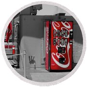 The Coke Machine Round Beach Towel