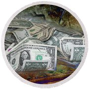 The Color Of The Money Round Beach Towel