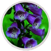 The Color Purple Round Beach Towel by Kathleen Struckle