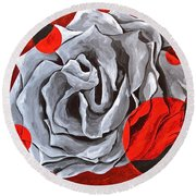 The Color Red Two Round Beach Towel
