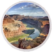 The Colors Of Canyonlands Round Beach Towel