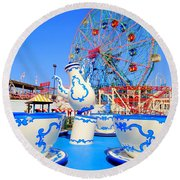 The Colors Of Coney Round Beach Towel