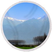 The Colors Of Mount Olympus Round Beach Towel
