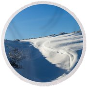 The Colors Of Snow Round Beach Towel