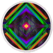The Colors Of Space Round Beach Towel