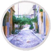 The Colors Of The Streets Round Beach Towel
