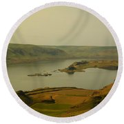 The Columbia River From Maryhill Round Beach Towel