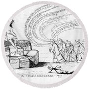 The Commissioners, 1778 Round Beach Towel