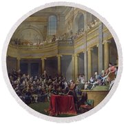 The Committee Of Lyon, 26th January 1802, 1808 Oil On Canvas Round Beach Towel