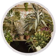 The Conservatory Round Beach Towel