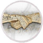 The Constitution Round Beach Towel