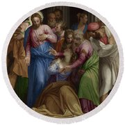 The Conversion Of Mary Magdalene Round Beach Towel