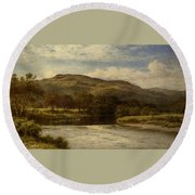 The Conway Near Bettws Y Coed Round Beach Towel