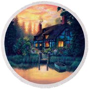 The Cottage Round Beach Towel