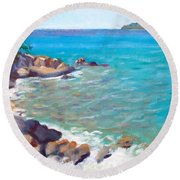 The Cottage View Round Beach Towel