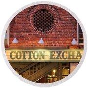 The Cotton Exchange Round Beach Towel
