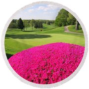 The Country Club Round Beach Towel