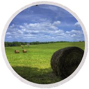 The Country House Hayfield Round Beach Towel